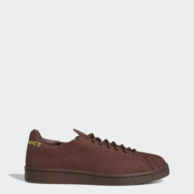 Sapatos Primeknit Superstar Pharrell Williams Castanho Originals