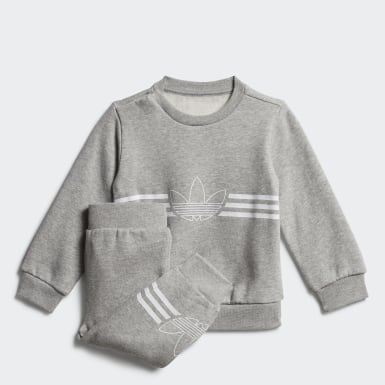 Barn Originals Grå Outline Crewneck Set