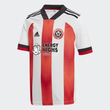 Børn Fodbold Hvid Sheffield United 20/21 hjemmebanetrøje
