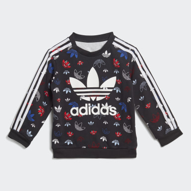 Kids Originals Black Crew Set