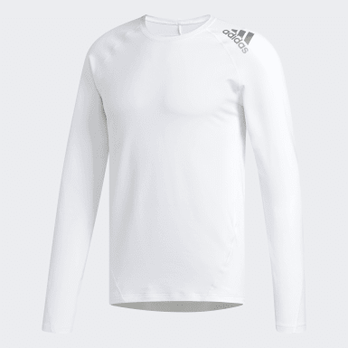 Men Golf White Climawarm Base Layer Sweatshirt