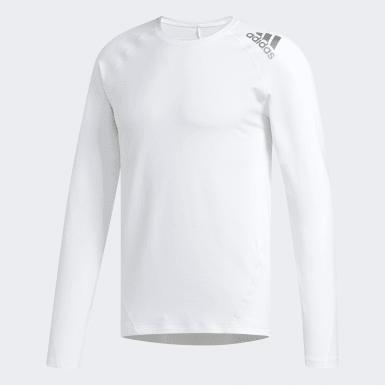 Mænd Golf Hvid Climawarm Golf Crew T-shirt