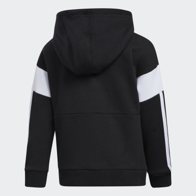 Children Training Black Core Colorblock Hoodie