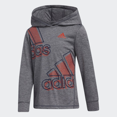 Youth Training Grey EXP HTHR HOODED TEE SET