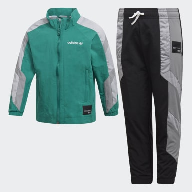 Boys Originals Green EQT Track Suit