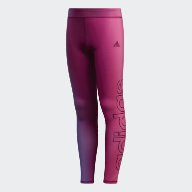 Youth Training Burgundy Ombré Graphic Tights