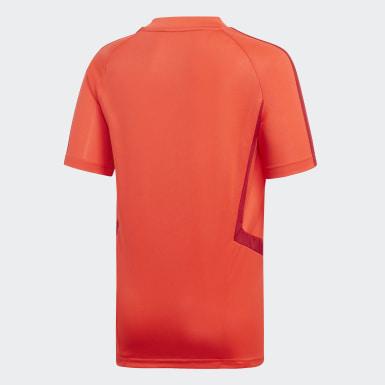 Jongens Voetbal Rood FC Bayern München Training Voetbalshirt
