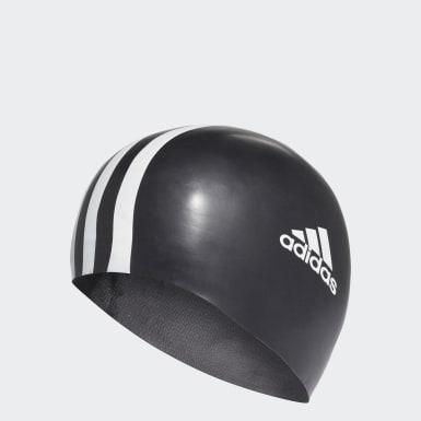 Gorra de Natación 3 Tiras (UNISEX) Negro Natación