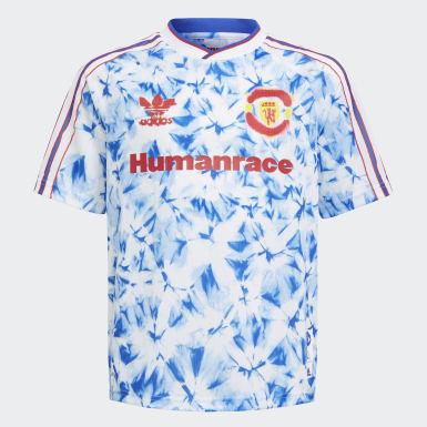 Camisola Human Race do Manchester United Branco Criança Futebol