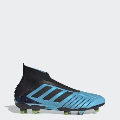 Bota de fútbol Predator 19+ césped natural seco Azul Fútbol