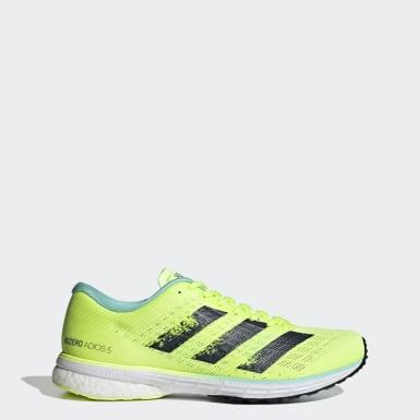 Women Running Yellow Adizero Adios 5 Shoes