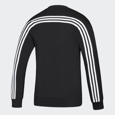 Men Athletics Multicolor Flames Must Haves 3-Stripes Crew Sweatshirt