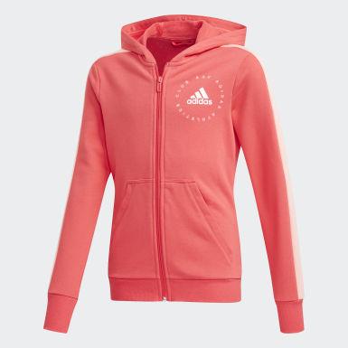 Girls Træning Pink Hooded træningsdragt