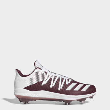 Men's Baseball Burgundy Adizero Afterburner 6 Cleats