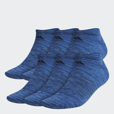 Men's Training Blue Superlite No-Show Socks 6 Pairs XL