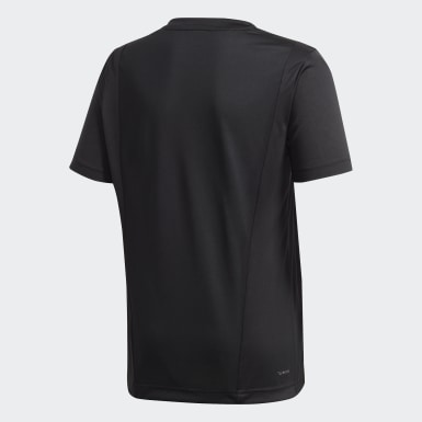 Boys Lifestyle Black Linear Tee