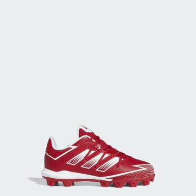 Children Baseball Red Afterburner 7 MD Cleats