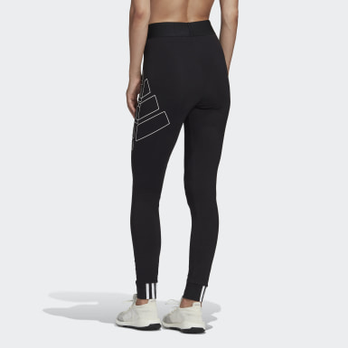 Frauen Athletics Big Badge of Sport Tight Schwarz