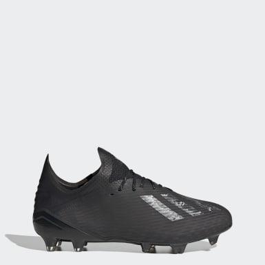 Bota de fútbol X 19.1 césped natural seco Negro Fútbol