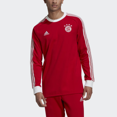 Men Football Red FC Bayern Licensed Icon Long-Sleeve Top