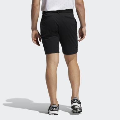 Men Golf Black Cargo Shorts