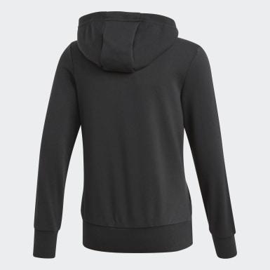 Bluza z kapturem Essentials 3-Stripes Hoodie Czerń
