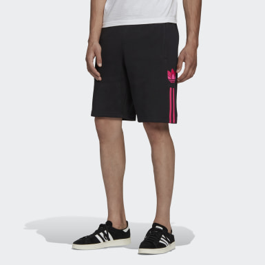 Herr Originals Svart 3D Trefoil 3-Stripes Sweat Shorts