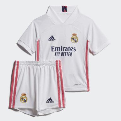 Divisa Mini Home 20/21 Real Madrid Bianco Bambini Calcio