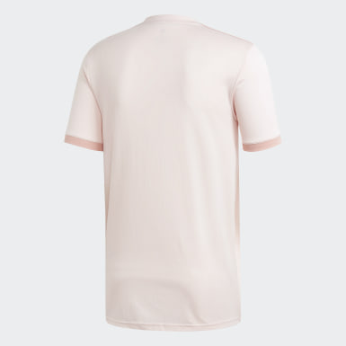 Men Soccer Pink Manchester United Away Jersey