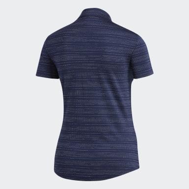 Playera Polo Microdot Azul Mujer Golf