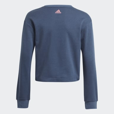 Girls Sport Inspired Blue adidas Essentials Logo Sweatshirt