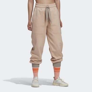 Pantalon de survêtement adidas by Stella McCartney Beige Femmes adidas by Stella McCartney