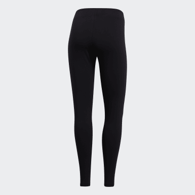 Women Athletics Black Essentials Linear Leggings