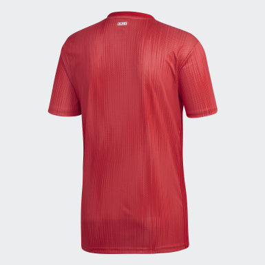 Terceira Camisola do Real Madrid Vermelho Homem Futebol