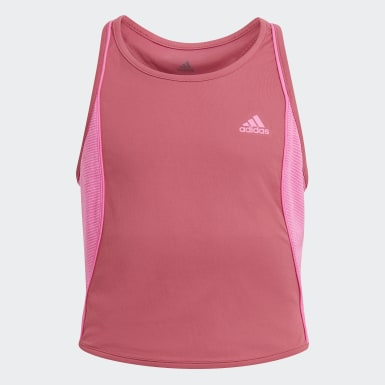 Youth 8-16 Years Tennis Pink Pop-Up Tank Top