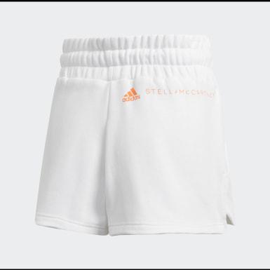 Calções em Fleece Branco Mulher adidas by Stella McCartney
