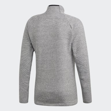 Men's Lifestyle Grey Knit Fleece Jacket