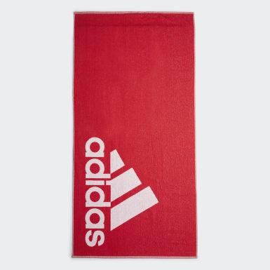 adidas håndkle, stort Rød