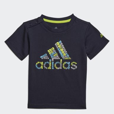 синий Футболка Logo