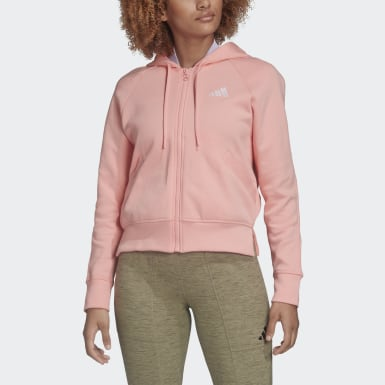 Frauen Athletics Ribbed Kapuzenjacke Rosa