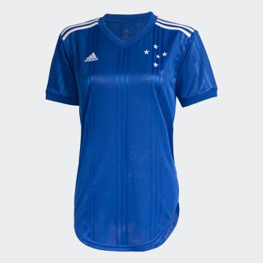Camisa Cruzeiro 1 Azul Mulher Futebol