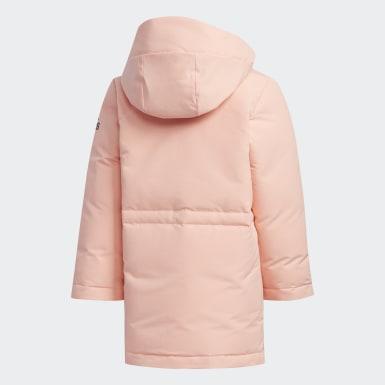розовый Пуховик