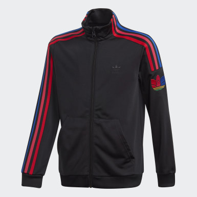 Track top adicolor 3D Trefoil Nero Bambini Originals