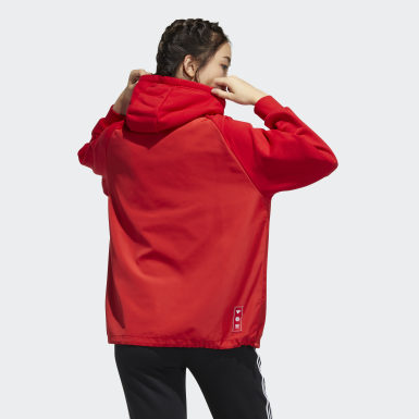 Women Originals Red CNY Hoodie