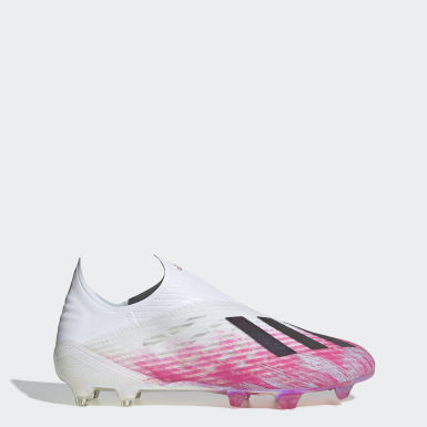 Zapatos de Fútbol X 19+ Terreno Firme Blanco Hombre Fútbol