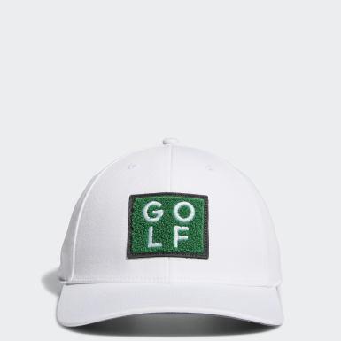 ผู้ชาย กอล์ฟ สีขาว หมวก Golf Turf
