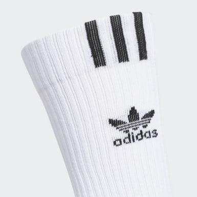 Men's Originals White Graphic Logo Crew Socks 3 Pairs