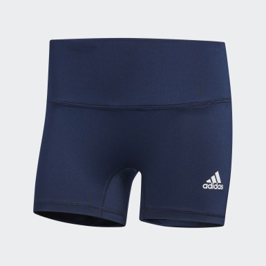 Women's Volleyball Blue Four-Inch Short Tights