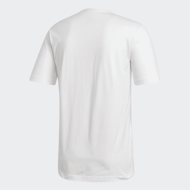Camiseta Essentials Linear Logo Blanco Hombre Athletics