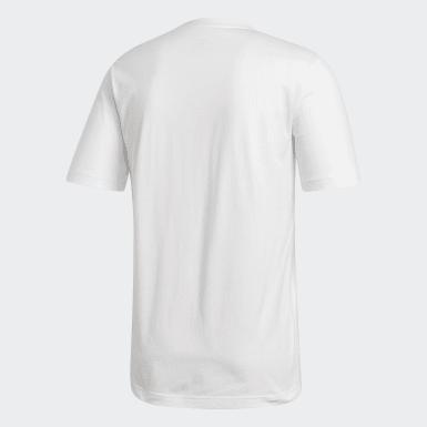 Muži Athletics biela Tričko Essentials Linear Logo